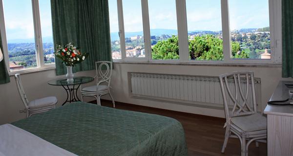 Toscane - Camera con vista sulle colline senese