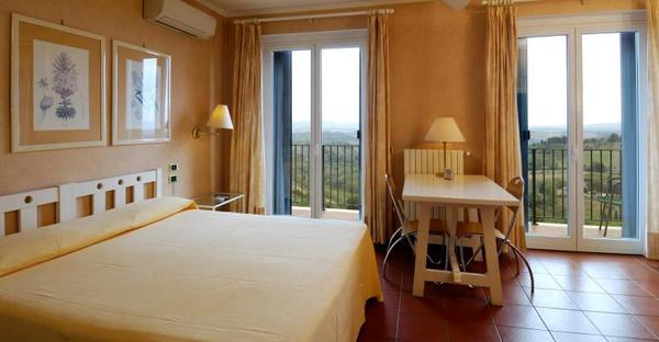 Toscane - Hotel Bel Soggiorno San Gimignano - Camera Matrimoniale Vista Colline Toscane