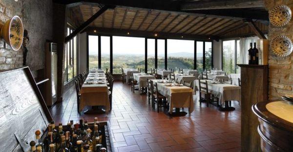 Toscane - Hotel Bel Soggiorno San Gimignano - Sala Ristorante Cucina Tipica Toscana